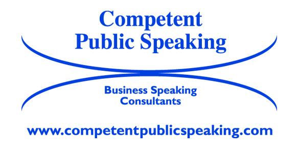 Competent Public Speaking